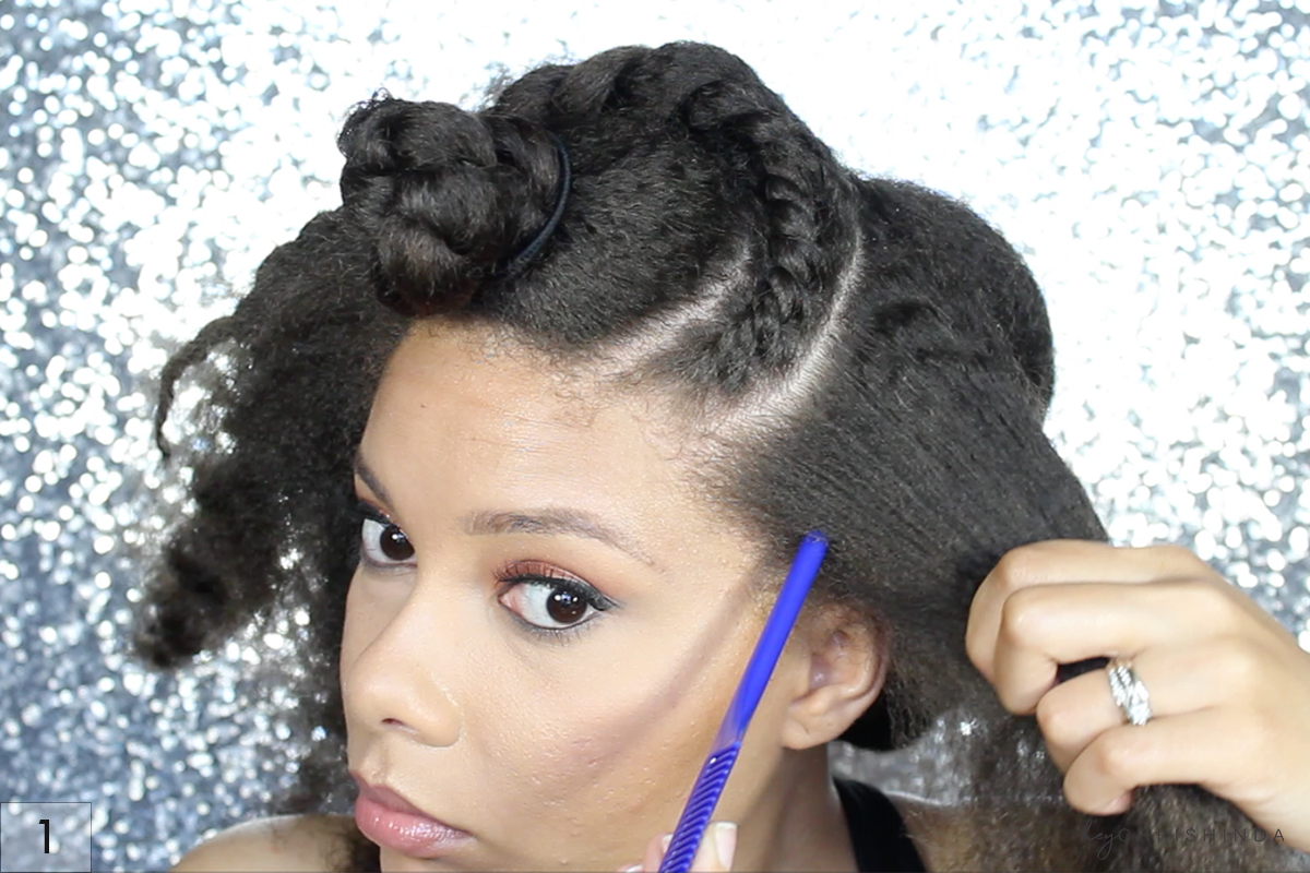 Gorgeous Natural Hair Flat Twist UpDo | Hey Chrishinda