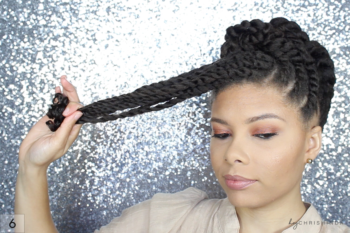 Gorgeous Natural Hair Flat Twist UpDo