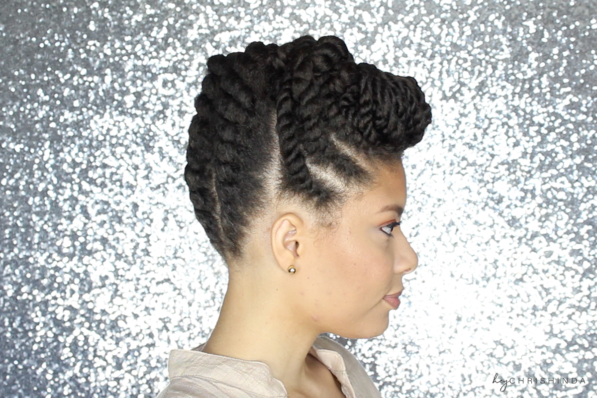 Gorgeous Natural Hair Flat Twist Updo Hey Chrishinda