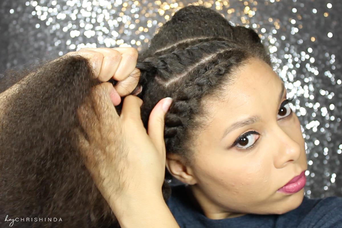 Simple Natural Hair Flat Twist Updo 3 Twists And A Bun Hey Chrishinda
