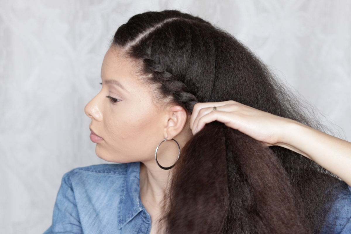 Super Easy Every Day Flat Twist Natural Hair Style