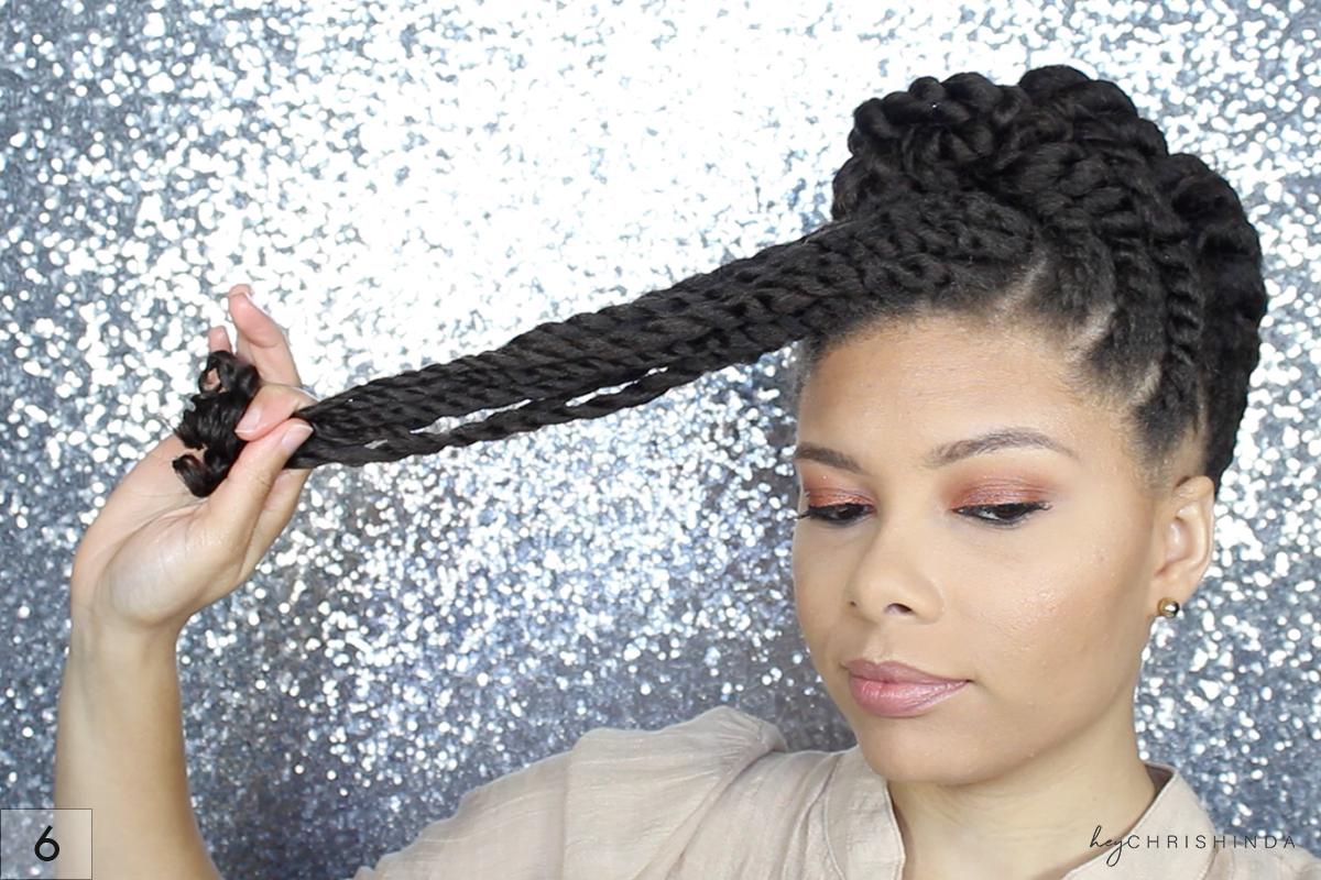 gorgeous natural hair flat twist updo | hey chrishinda